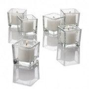 Twinkly Square Votive Aroma Candle Set of 4(#1092) - Getkraft.com