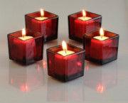 CherryPie Square Votive Aroma Candle Set of 4(#1093) - Getkraft.com