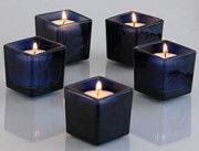 BlueBerry Square Votive Aroma Candle Set of 4(#1094) - Getkraft.com