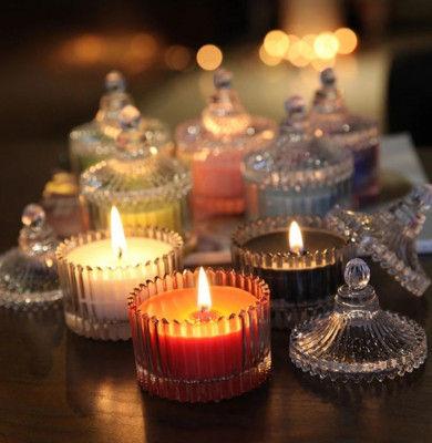 Candy Jar Votive Lavender Candle(#1095)-gallery-0