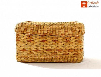 Natural Straw Tissue Box(#1104)-gallery-0