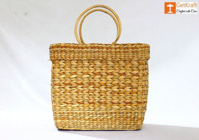 Natural Straw Hand Bag(#1106)-gallery-0