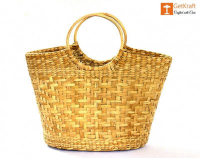 Natural Straw Hand Bag(#1107)-gallery-0