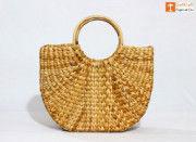 Natural Straw Kauna Hand (U) Bag(#1109) - Getkraft.com