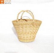Natural Straw Kauna V Shaped Bag(#1127) - Getkraft.com
