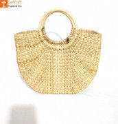 Natural Straw Kauna (U) Hand Bag(#1128) - Getkraft.com