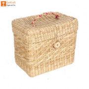 Natural Straw Jewellery Box(#1145) - Getkraft.com