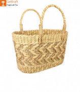 Natural Straw Kauna Grass Tote Bag(#1147) - Getkraft.com