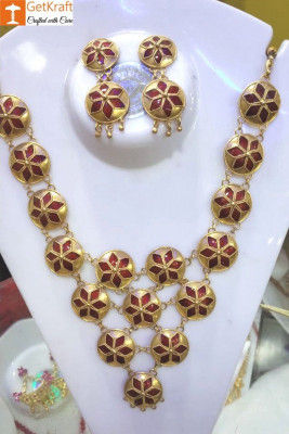 Assamese Traditional Jewellery Set for Women(#1151)-gallery-0