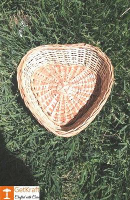 The Wicker Mini Heart Basket(#1162)-gallery-0