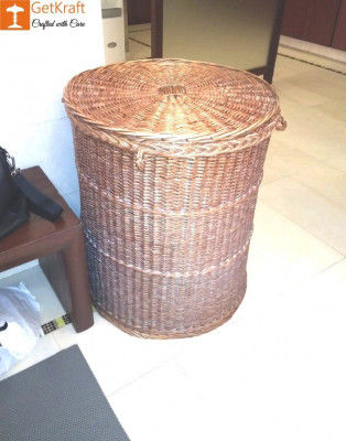 Wicker Willow Laundry Basket(#1174)-gallery-0