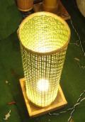 Bamboo Net Coloured Lamp(#118)-thumb-2