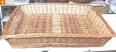 Wicker Willow Rectangular Tray(#1180)-gallery-0