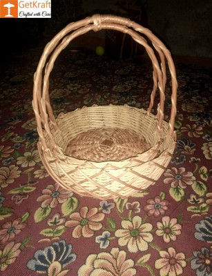 Wicker Willow Gift Basket (with) Double Handle Set Of 3(#1187)-gallery-0