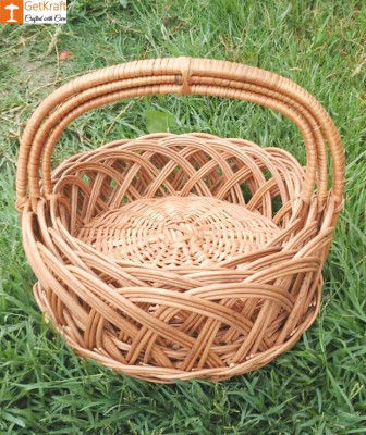Wicker Willow Gift Basket (with) Handle Set Of 3(#1188)-gallery-0