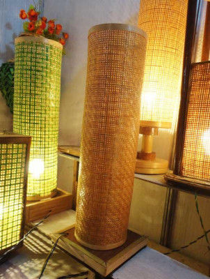 Gorgeous Bamboo Net Lamp Stand(#119)-gallery-0