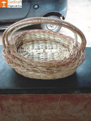 Wicker Willow Gift Basket (with) Handle Set Of 3(#1190)-gallery-0