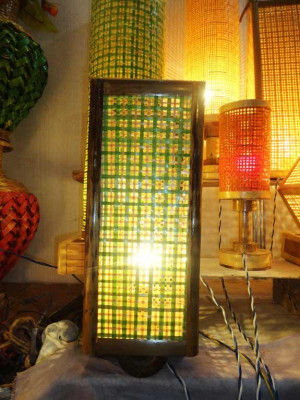 Square Net Table Lamp(#121)-gallery-0