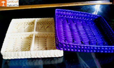 Palm Leaves Square Compartment(#1214)-gallery-0