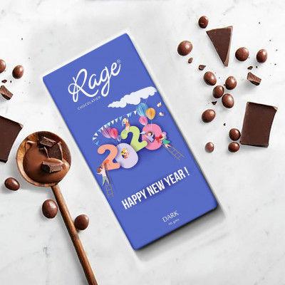 Rage Happy New year 2020 Dark Chocolate Bar 90 gm(#1253)-gallery-0