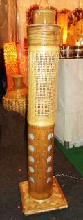 Corner Stand Bamboo Net Lamp(#126)-thumb-1