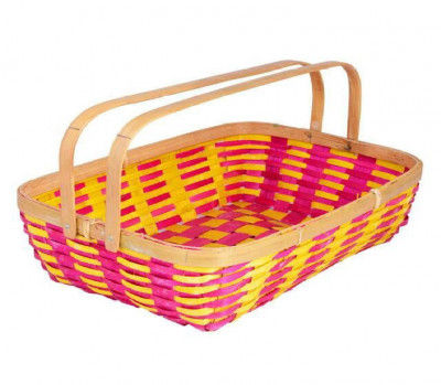Bamboo Tray Color (With Handle)(#1260)-gallery-0