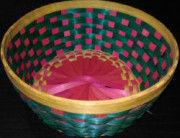 Bamboo Flower Basket Round(#1262) - Getkraft.com