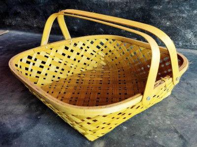 Kaya Basket Natural (With Handle)(#1263)-gallery-0