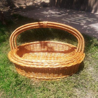 Wicker Oval basket Set of three(#1324)-gallery-0