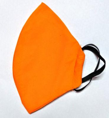 Cotton Handmade Reusable Mask Orange (Pack of 5)(#1360)-gallery-0