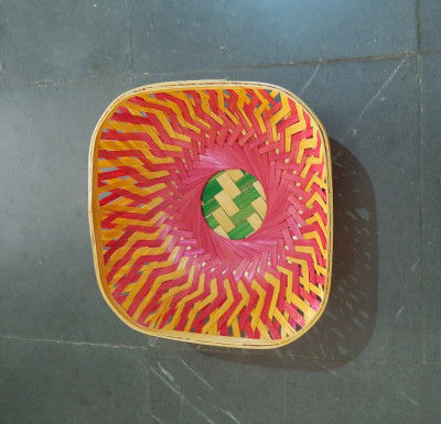 9 inch bamboo basket square(#1364)-gallery-0