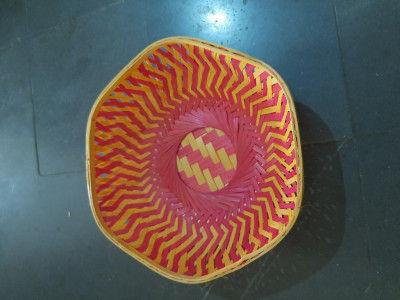 12 inch bamboo fruit basket hexagonal(#1367)-gallery-0