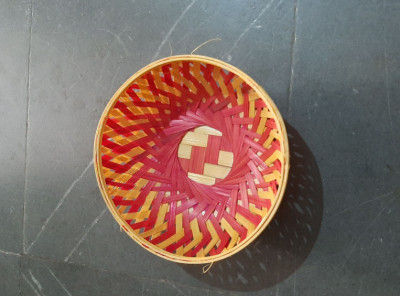 12 inch bamboo fruit basket round(#1368)-gallery-0