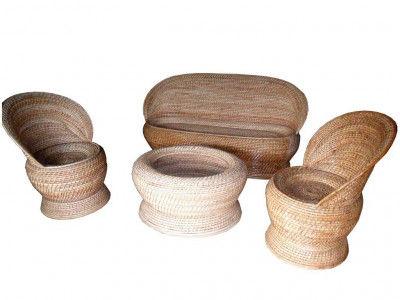 Designer Cane Sofa Set Stylish 2 x 1 x 1 Combo Set(#138)-gallery-0