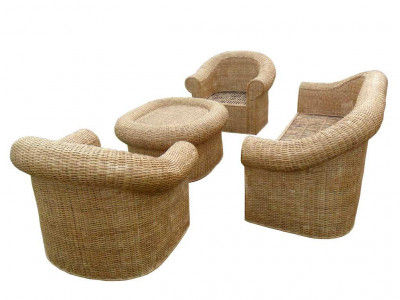 Classic Cane Sofa Set with Radiant looks for Office Home(#140)-gallery-0