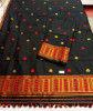Assamese Staple Cotton Black Mekhela Chador P1(#1402) - Getkraft.com