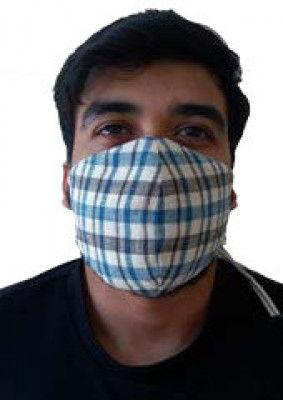 Double Layered VV Handloom Designer Masks by Khamir p3(#1414)-gallery-0
