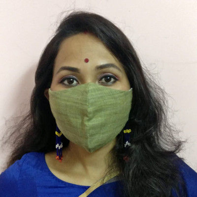 Eri Silk Naturally dyed Face Mask(#1437)-gallery-0