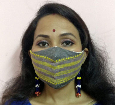 Eri silk Designer Face Mask(#1439)-gallery-0