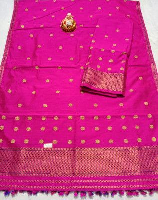 Assamese Staple Cotton Mekhela Chador P11(#1442)-gallery-0