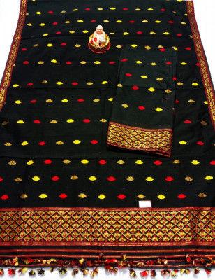 Assamese Staple Cotton Mekhela Chador P13(#1443)-gallery-0
