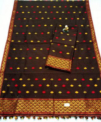 Assamese Staple Cotton Mekhela Chador P16(#1445)-gallery-0