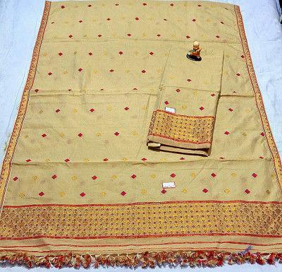 Assamese Staple Cotton Mekhela Chador P17(#1446)-gallery-0