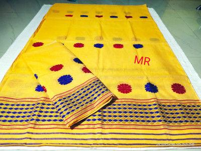 Assamese Nooni Cotton Mekhela Chador P27(#1457)-gallery-0