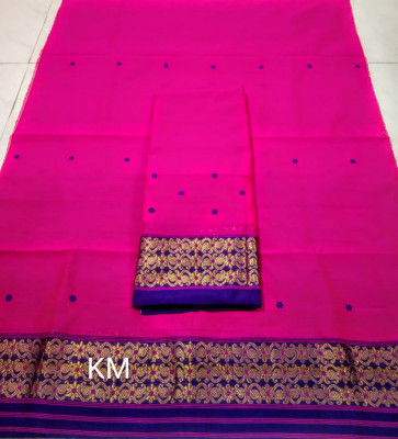 Assamese Staple Cotton Mekhela Chador P45(#1476)-gallery-0