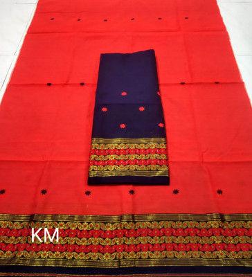 Assamese Staple Cotton Mekhela Chador P47(#1478)-gallery-0