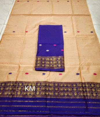 Assamese Staple Cotton Mekhela Chador P48(#1479)-gallery-0