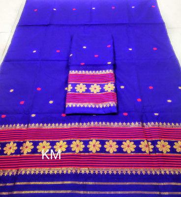 Assamese Staple Cotton Mekhela Chador P49(#1480)-gallery-0