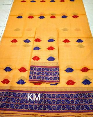 Assamese AC Cotton Mekhela Chador P66(#1495)-gallery-0