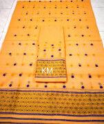 Assamese AC Cotton Mekhela Chador P79(#1507) - Getkraft.com